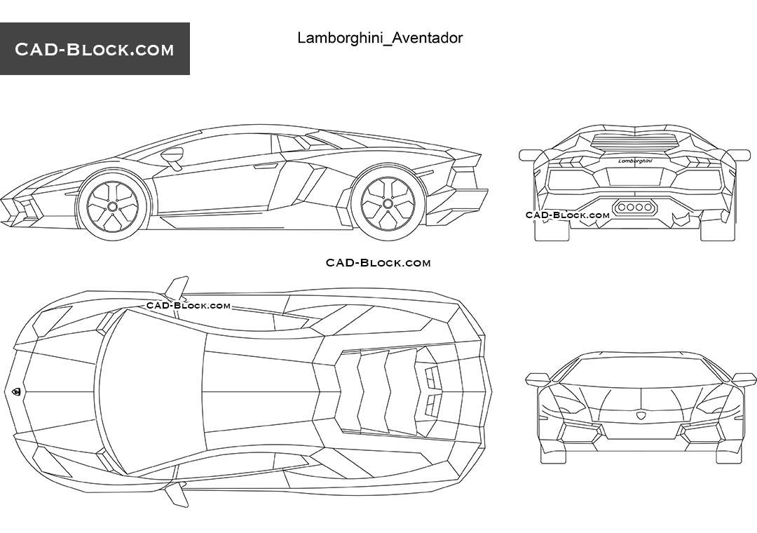 lamborghini aventador cad block free download