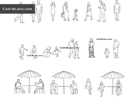 People At The Gym Cad Blocks Free Download Dwg