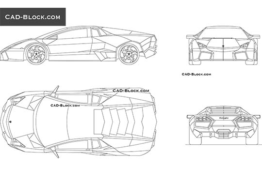 Lamborghini Reventon - download free CAD Block