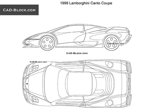 Lamborghini Canto 1999 - download free CAD Block