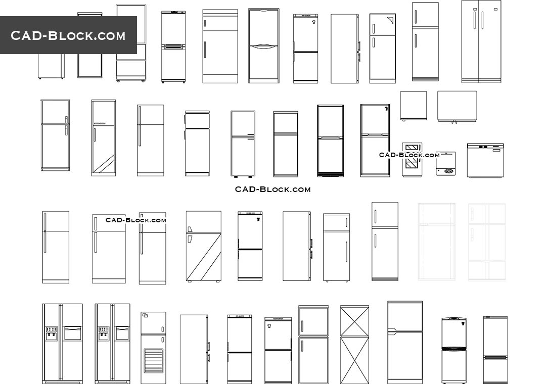 Refrigerators - CAD Blocks, AutoCAD file