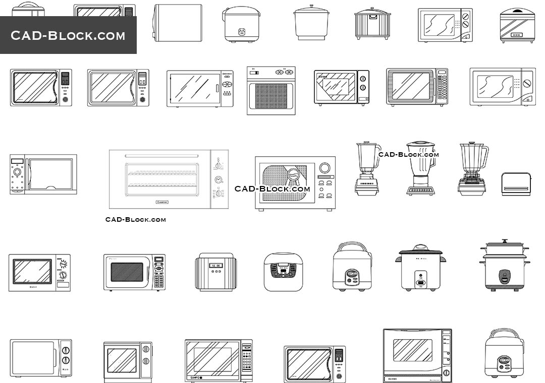 Free Printable Kitchen Appliance Templates