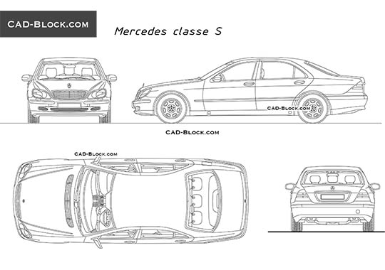 Mercedes S-Class - free CAD file