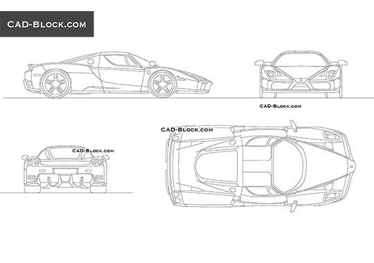 Enzo Ferrari - free CAD file