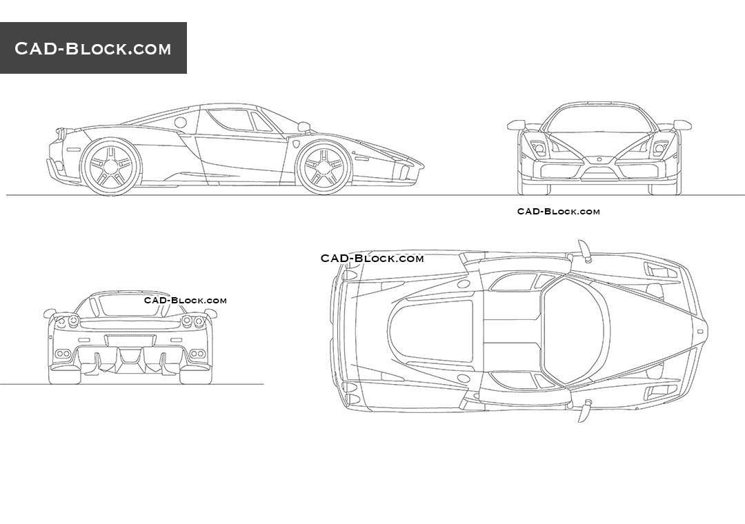 Ferrari cad blocks free download dwg drawings for Cad car plan