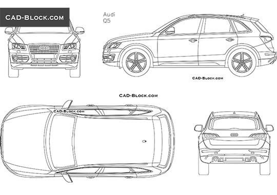 Audi Q5 (2008) - download free CAD Block