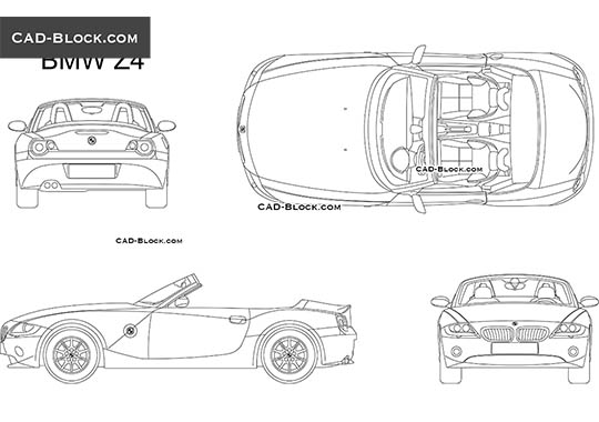 BMW Z4 (2002) - download free CAD Block