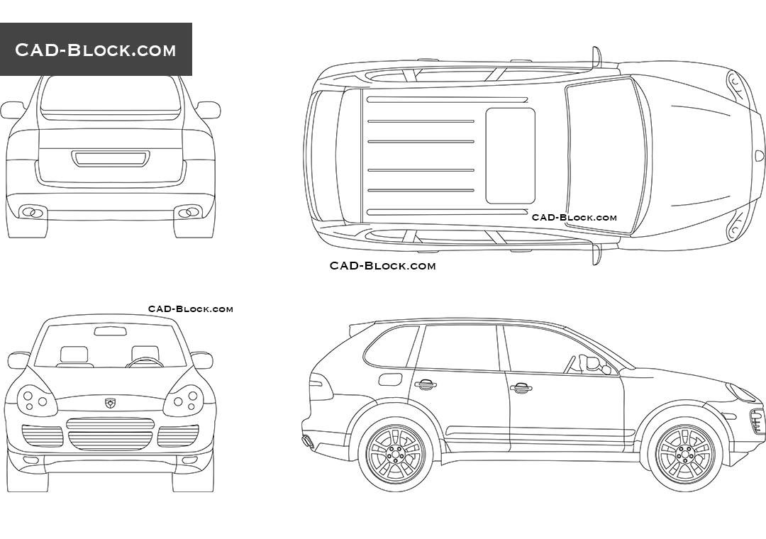 Porsche Cayenne (2003) - CAD Blocks, AutoCAD file