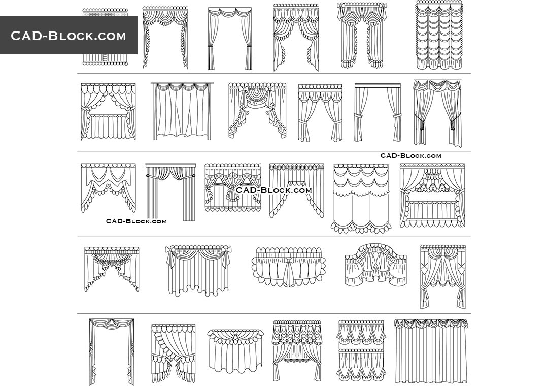 Curtains - CAD Blocks, AutoCAD file