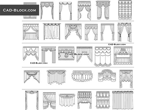 Curtains - free CAD file
