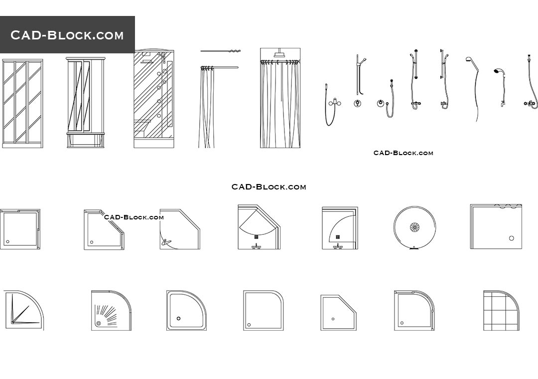 Showers Cad Blocks Free Download