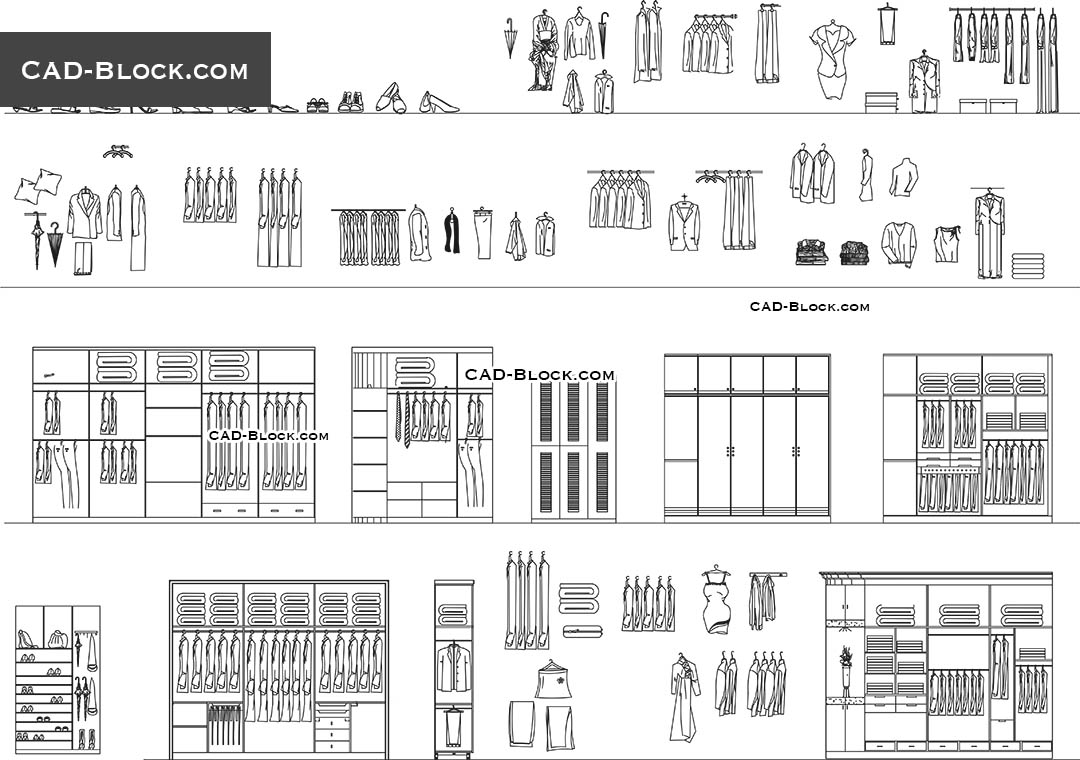 wardrobe cad block file download