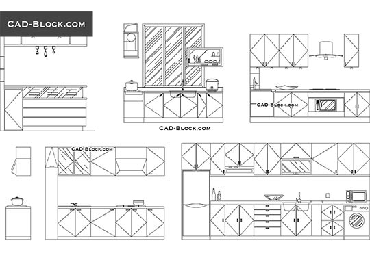 Kitchen equipment CAD blocks, drawings free download