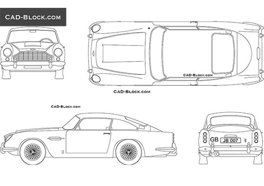 Aston Martin DB 5 - download free CAD Block