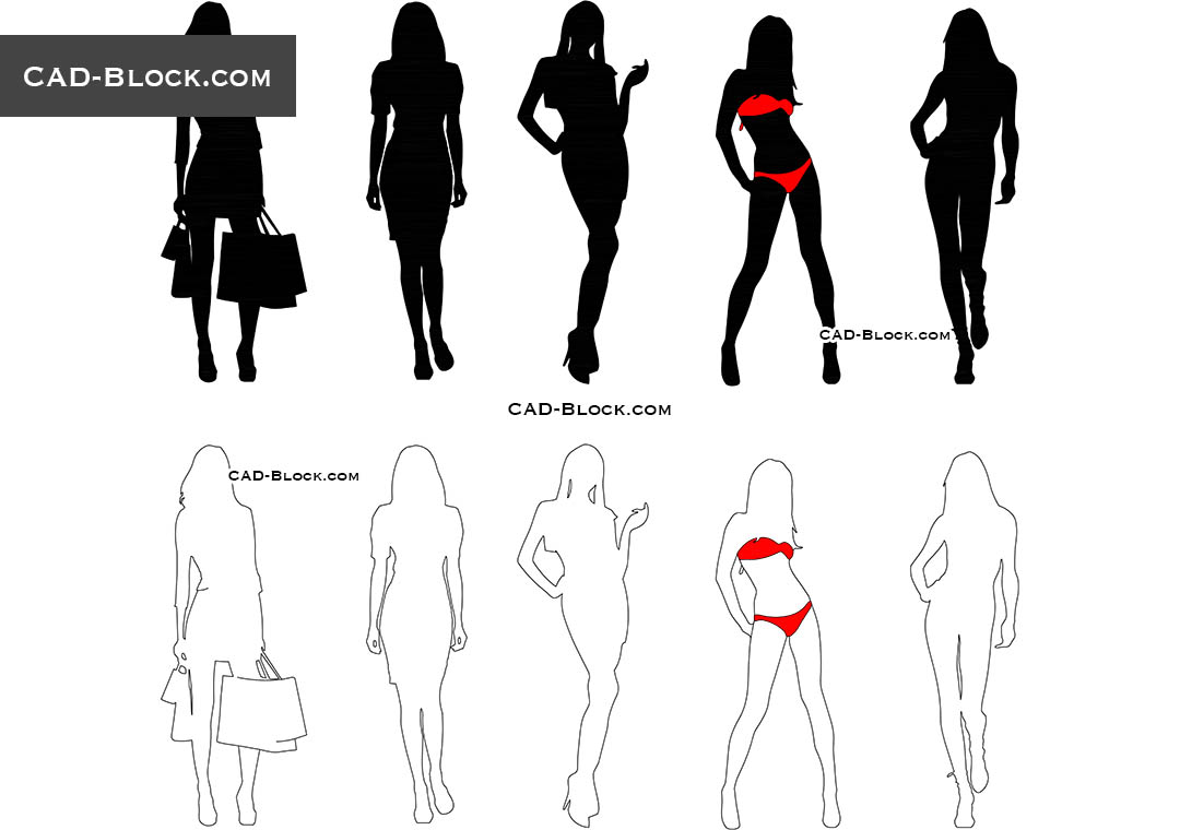 Girls - CAD Blocks, AutoCAD file