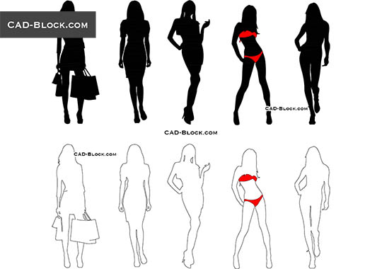 Girls - free CAD file