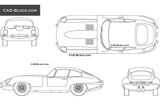Jaguar E-type - free CAD file