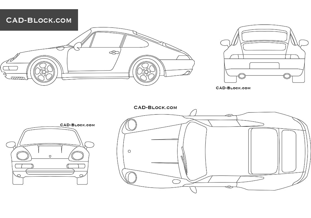 Porsche Carrera (1997) - CAD Blocks, AutoCAD file
