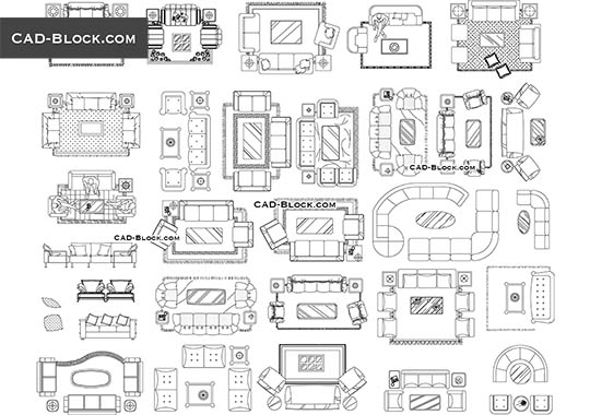 Sofas Cad Blocks Free Download Autocad File