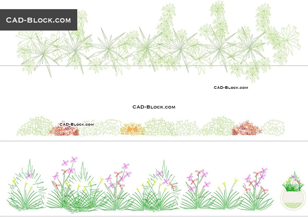 Houseplants CAD Blocks free download