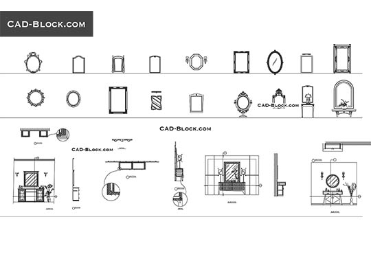 TV Furniture CAD blocks, free AutoCAD file download, DWG format