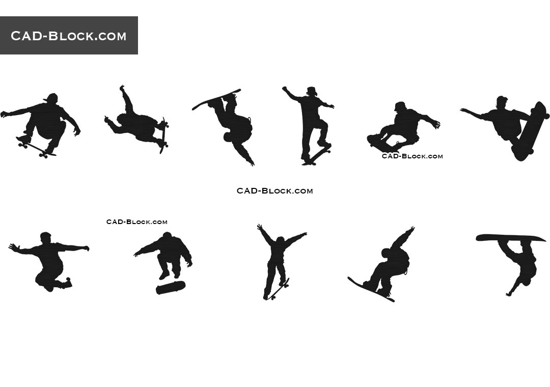 Skateboard - CAD Blocks, AutoCAD file