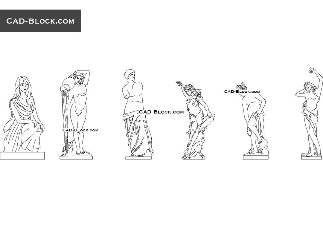 Sculpture - CAD Blocks, AutoCAD file