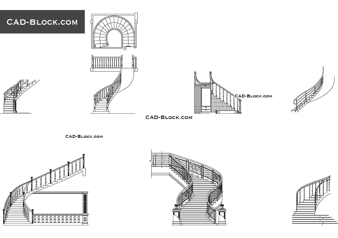 Stairs   CAD Blocks, AutoCAD File