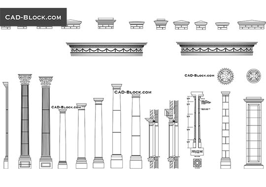 Architectural details - download free CAD Block