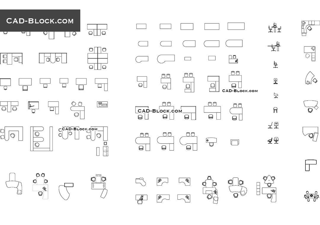 Office furniture CAD Blocks