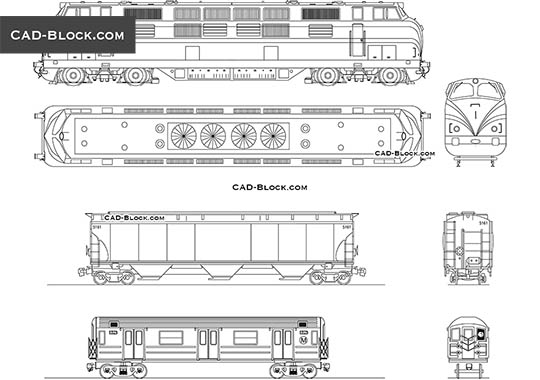 Train - download free CAD Block