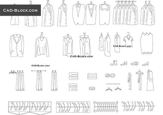 Clothes - download free CAD Block
