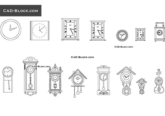 Wall Clocks - free CAD file