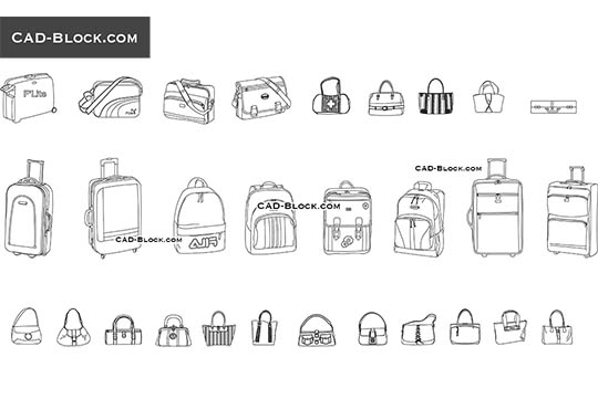 Bags - download free CAD Block