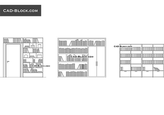 Bookshelves - download free CAD Block