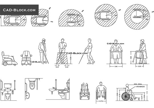 Disabled people - free CAD file