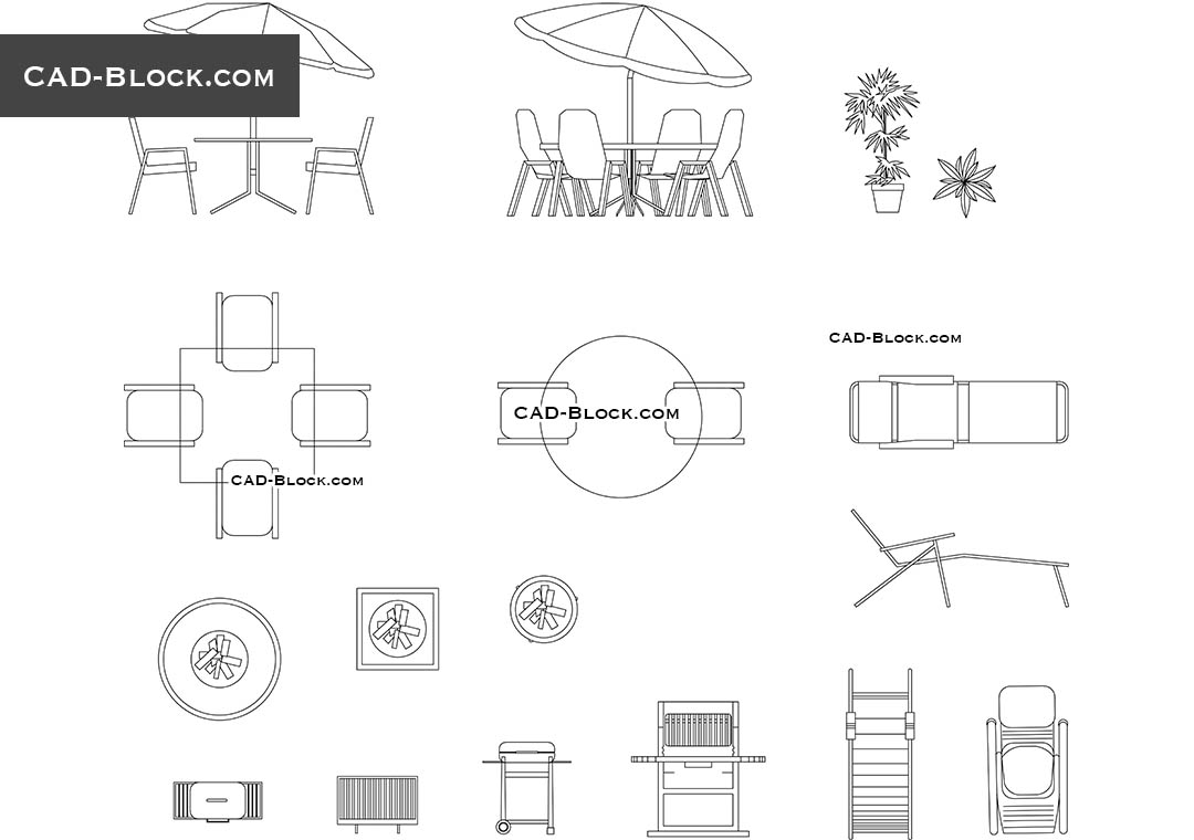 Outdoor Furniture Cad Blocks Free