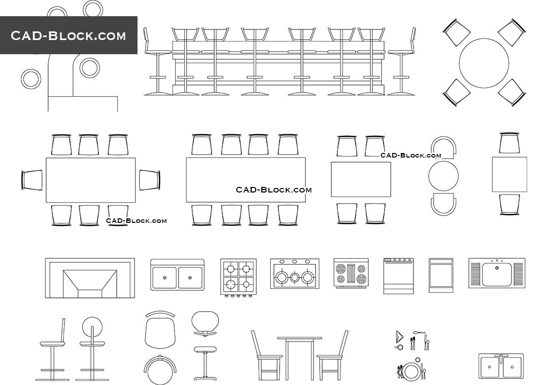 Bar Furniture Cad Blocks Download