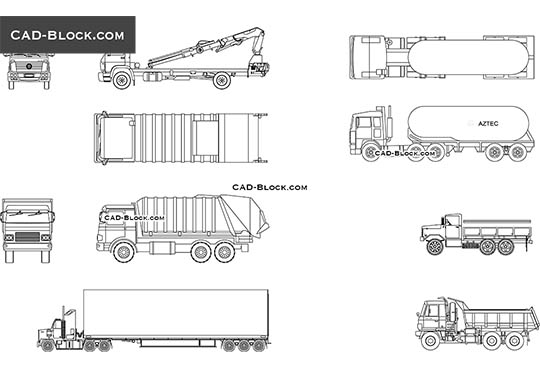 Trucks - download free CAD Block