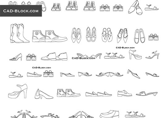 Shoes - download free CAD Block