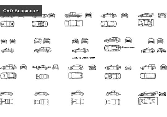 Cars set - free CAD file