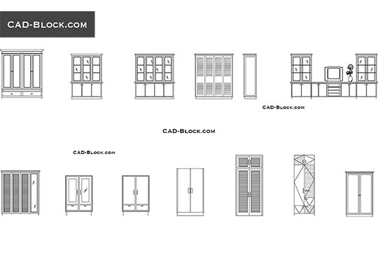 Cupboards - download free CAD Block