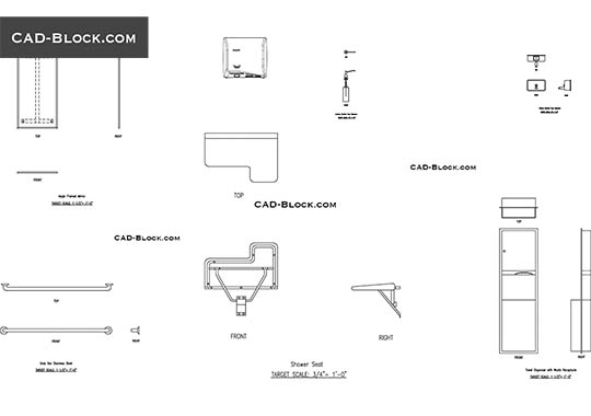 Toilet accessories - free CAD file