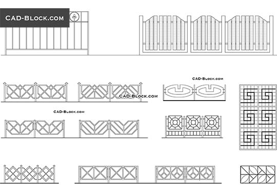 Gates CAD Blocks, models free download