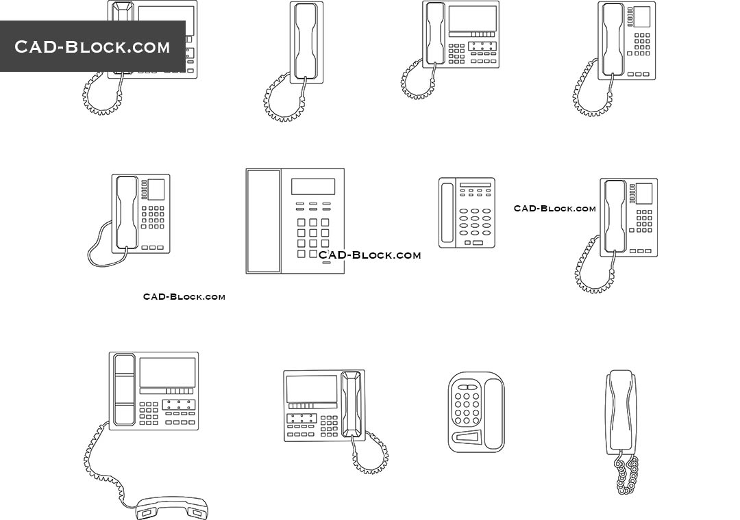 Phone cad block free download.