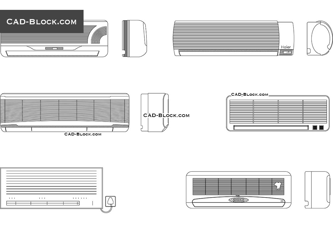 Air Conditioner Cad Block Free Download Hvac Drawing Conditioners Blocks Autocad File