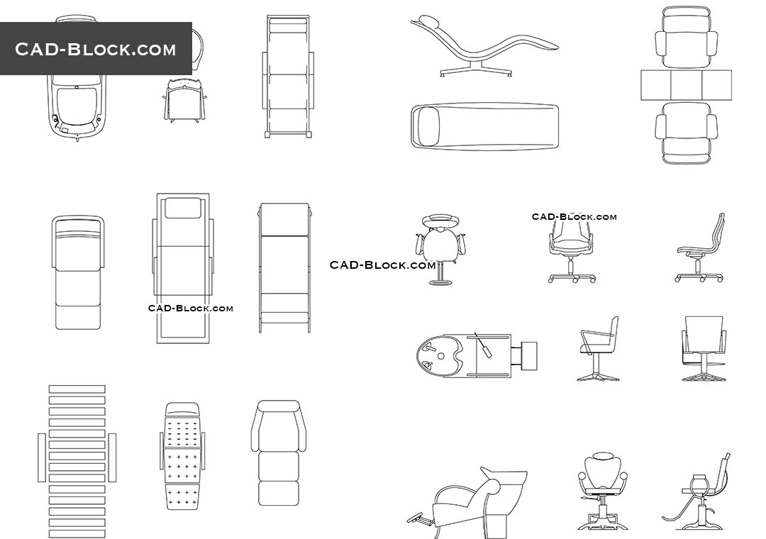 Beauty Salon Furniture Cad Blocks Free Download