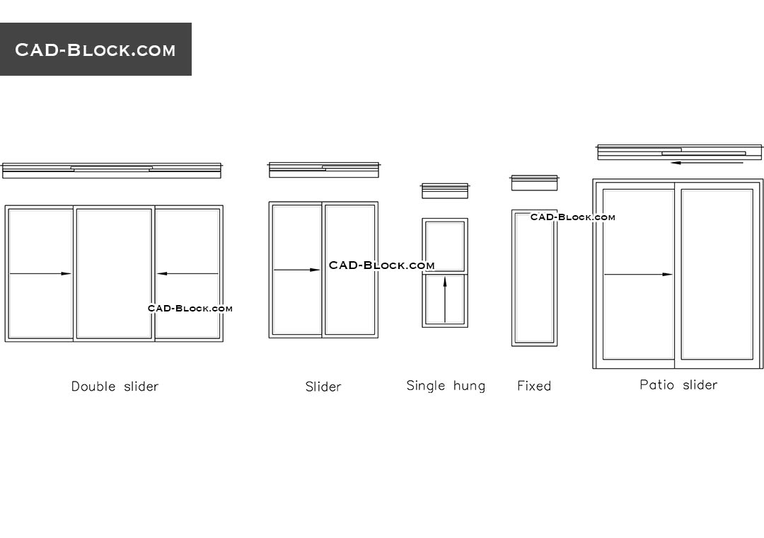 Excellent glass sliding door autocad block ideas best for Sliding glass doors drawing