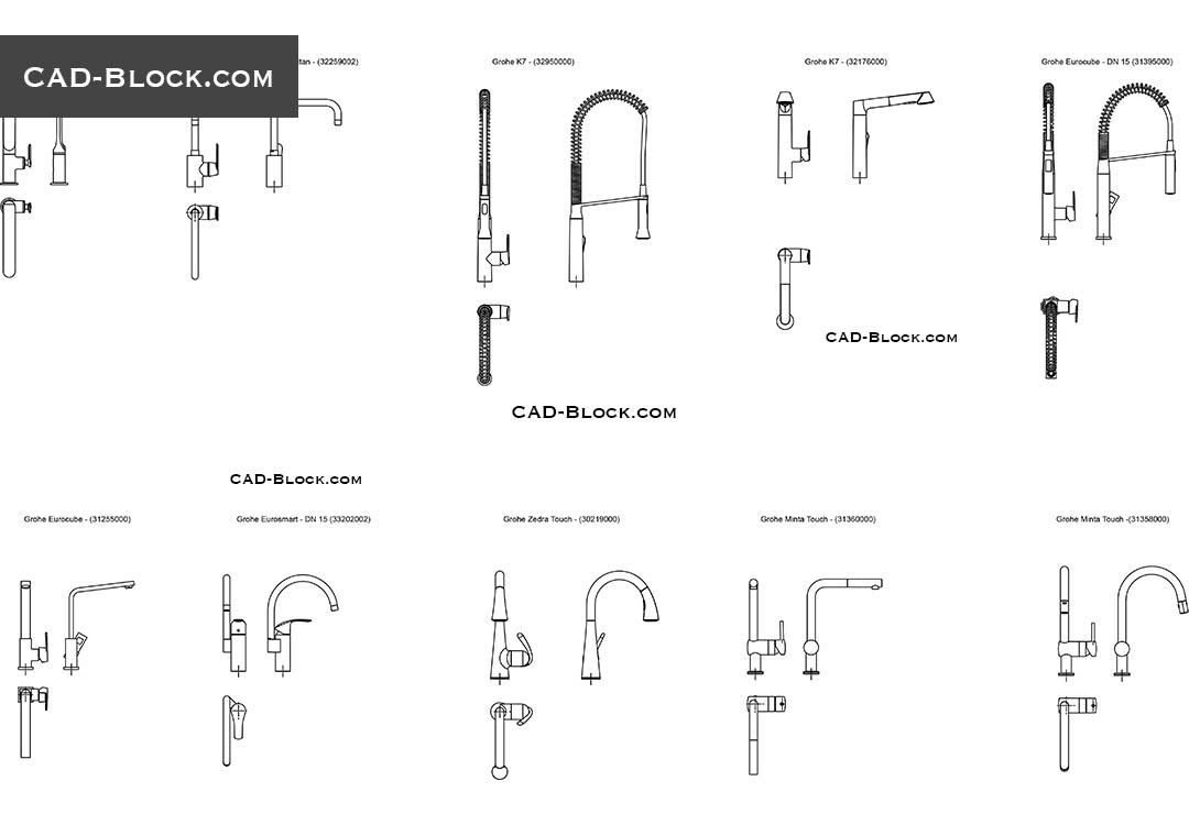 Kitchen Sink Tap Cad Block Besto Blog