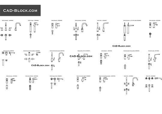 Basin Mixer   Free CAD File
